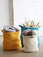 Free Pattern: Mega Bulky Crochet Baskets