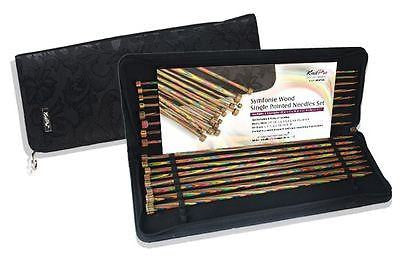 "KnitPro ""Symfonie"" Wood Single Pointed Knitting Needle Set (Dif. Sizes)  