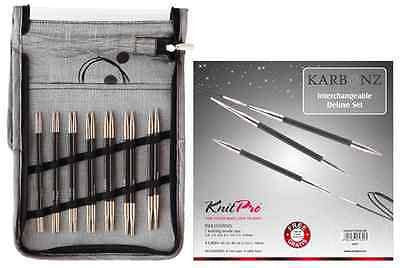 KnitPro Karbonz Interchangeable Circular Knitting Needles - Deluxe Set  | KNITTING CO. - 1