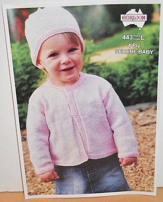 Child's 4-Ply Sweater & Hat Knitting Pattern Leaflet - Heirloom (#443)  | KNITTING CO. - 1