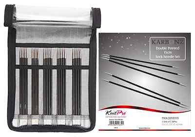 "KnitPro ""Karbonz"" Double Pointed Knitting Needles Set 15cm 
