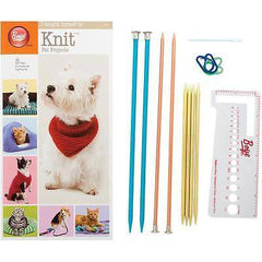 "Boye ""I Taught Myself To Knit"" Pet Clothes - Knitting Needles & Pattern Kit  