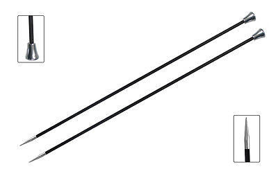 "KnitPro ""Karbonz"" Straight Knitting Needle Pair  