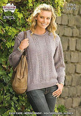 Ladies 8-Ply Jumper/Sweater Knitting Pattern Leaflet by Heirloom (#276)  | KNITTING CO.