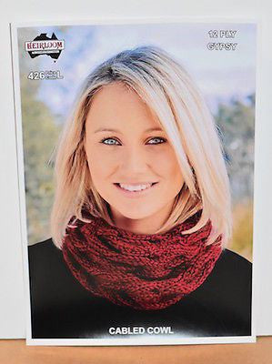 Ladies 12-Ply Cowl Scarf Knitting Pattern Leaflet by Heirloom (#426)  | KNITTING CO. - 1