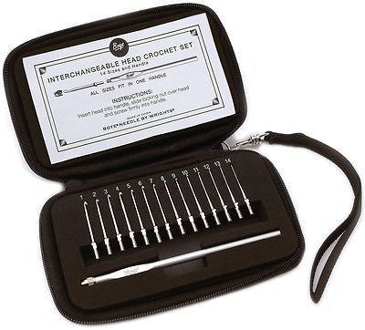 Boye Interchangeable Head Crochet Hooks - Travel Set of 14  | KNITTING CO. - 1