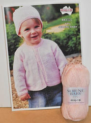 Heirloom Childs 4-Ply Hat & Sweater Knitting Kit w Serene Baby Yarn  | KNITTING CO.