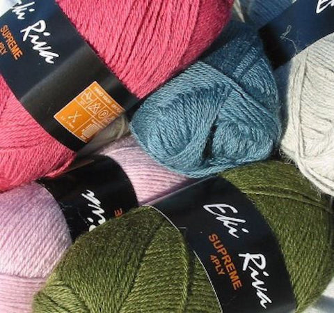 "10 x 50g Eki Riva ""Supreme"" 4-Ply Superbaby Alpaca Wool Yarn  