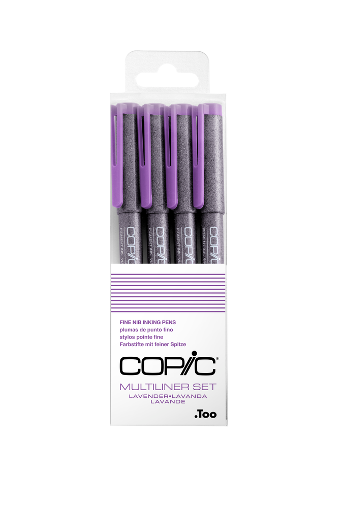 Copic Multiliner Permanent Inking Pens - Set of 4 (Choose Your Pack)