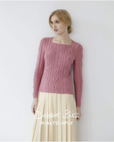 "Debbie Bliss ""Leaf Stitch Sweater"" Rialto 4-Ply Jumper Knitting Pattern Leaflet (#077)"