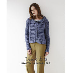 "Debbie Bliss ""Interlaced Cables Cardigan"" Rialto DK Heathers Knitting Pattern Leaflet (#106)"