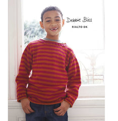 "Debbie Bliss ""Striped Sweater"" Rialto DK Knitting Pattern Leaflet (#115)"