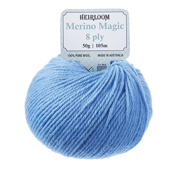 "Heirloom 50g ""Merino Magic"" 8-Ply 100% Wool Yarn"
