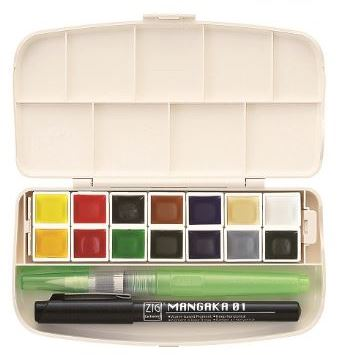 Kuretake Gansai Tambi Japanese Watercolour Paint - Portable Set