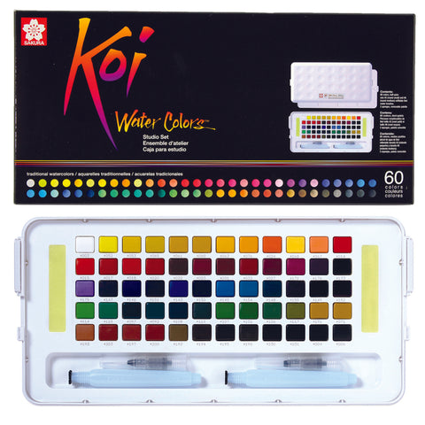 Sakura Koi Traditional Japanese Water Colour Paint - Studio Set (60 or 72 pan)