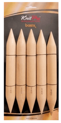 "KnitPro ""Basix"" 20cm Birch Wood Jumbo Double Point Knitting Needles  