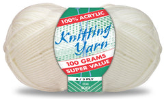 Everyday Super Value 100g Acrylic 8-Ply Knitting Yarn - Choose Your Colour