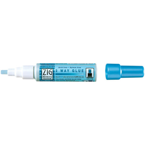 Zig Kuretake 2 Way Glue Pen - 4 x Chisel Tip