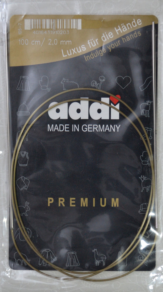 "Addi Brass Tip Circular Knitting Needles - 100cm (40"")"