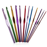 Everyday Colourful Aluminium Crochet Hooks - Set of 12 (2.00mm - 8.00mm)