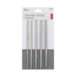 Birch Grey Aluminium Crochet Hooks - Set of 5 (3.00mm - 5.50mm)