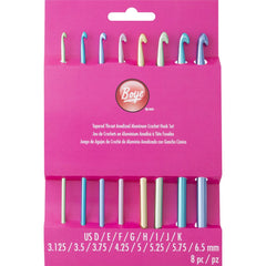 Boye Aluminium Crochet Hooks - Set of 8