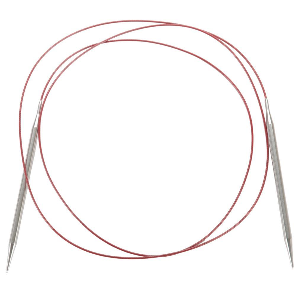 :Steel Red LACE Circular Needles: ChiaoGoo 0 US 60 in 2.00 mm 150 cm
