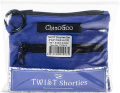"ChiaoGoo TWIST Shorties 2"" & 3"" Interchangeable Circular Knitting Needles - Small Blue Set"