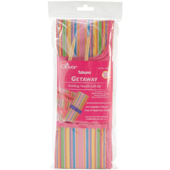 "Clover Takumi Getaway Bamboo 29"" Circular Knitting Needles - Set of 7 (4.50 - 10.00mm)  