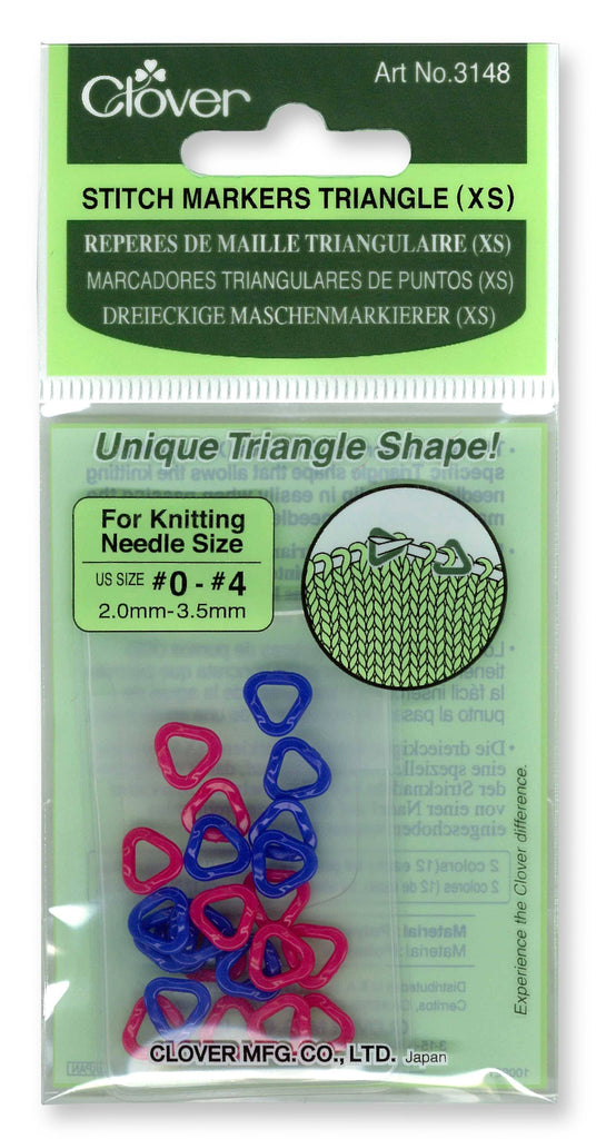 Clover Triangle Stitch Markers (XS) - 24 Pack