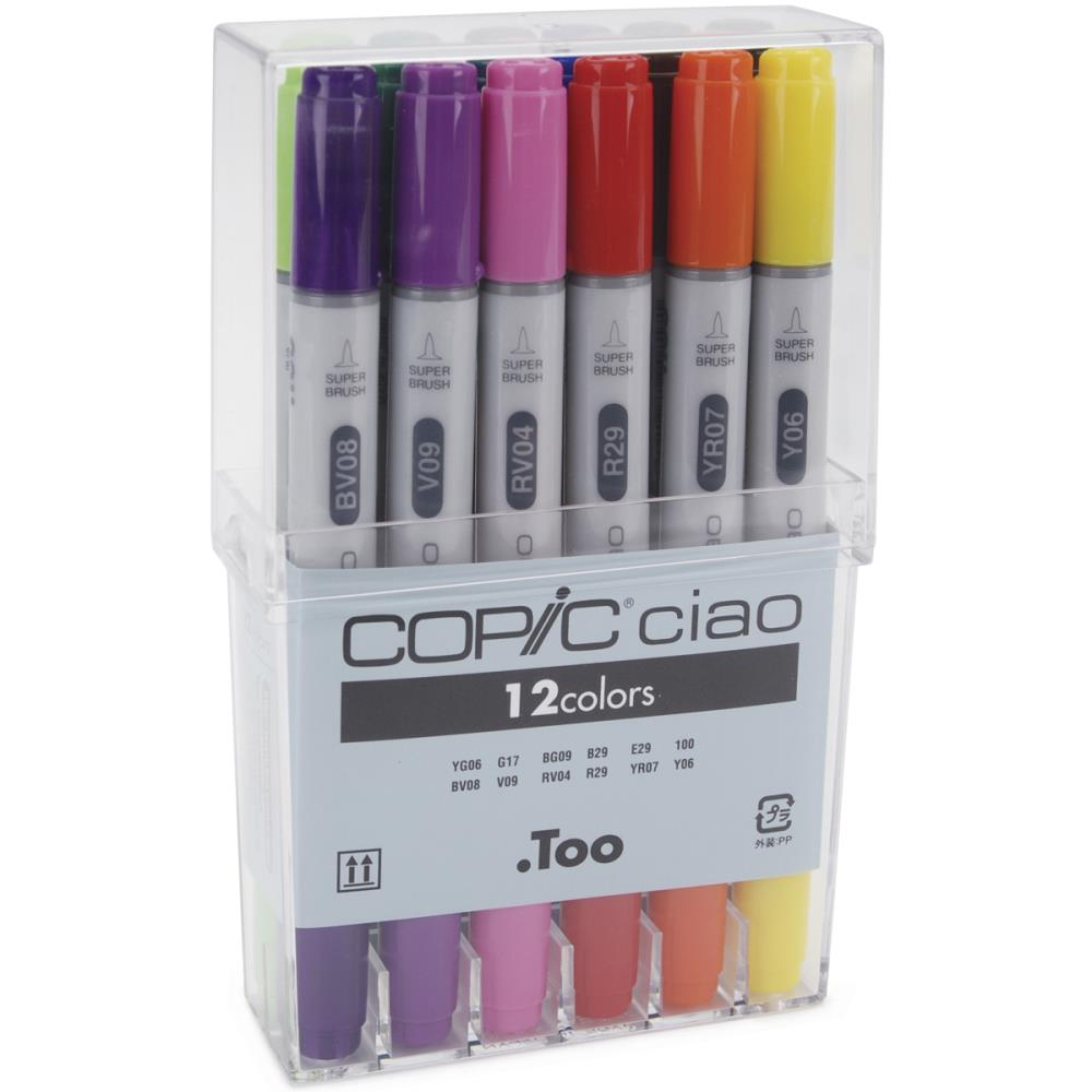 Copic Ciao Double-Tip Markers - Basic Set of 12