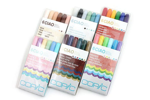 Copic Ciao Double-Tip Markers - Set of 6 (Choose Your Pack)