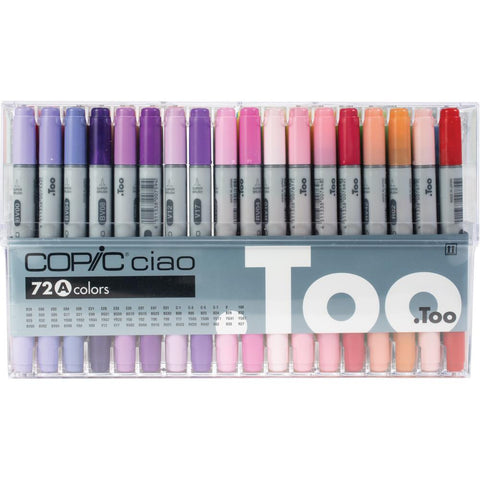 Copic Ciao Double-Tip Markers Set of 72 - Pack A
