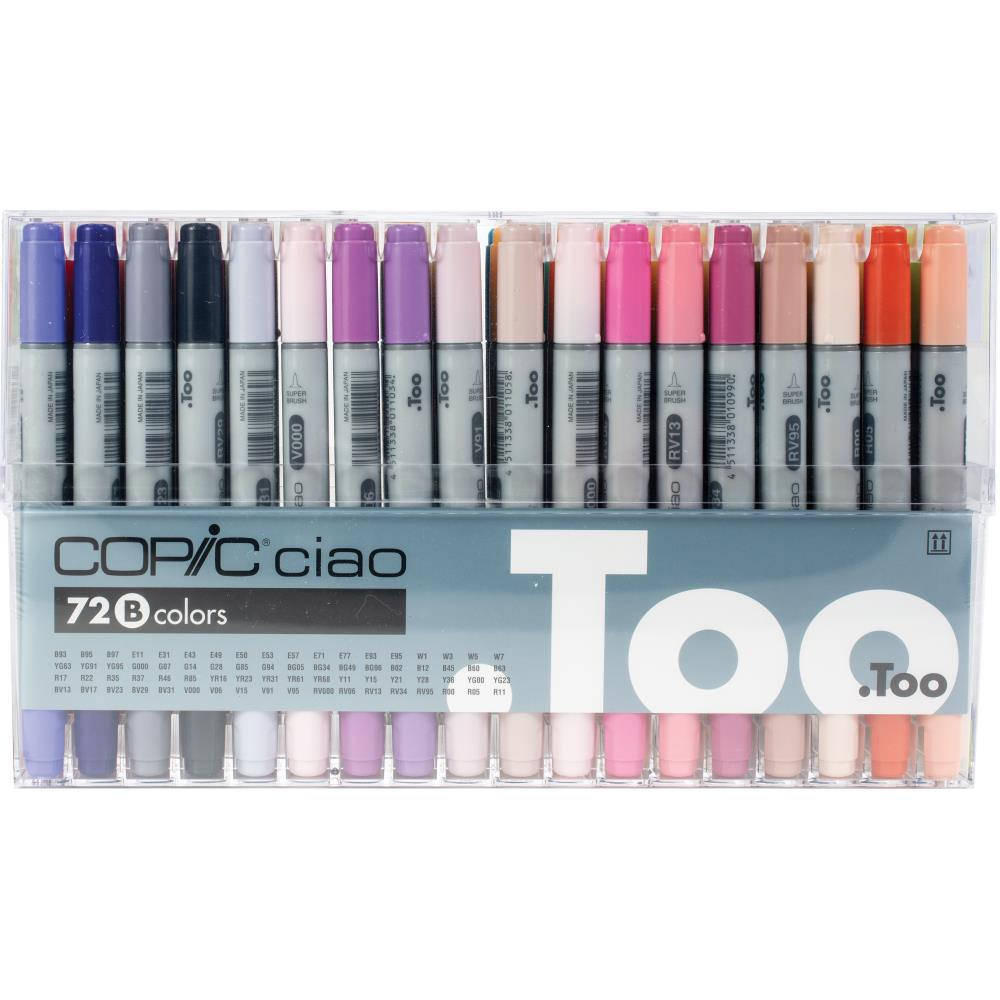 Copic Ciao Double-Tip Markers Set of 72 - Pack B