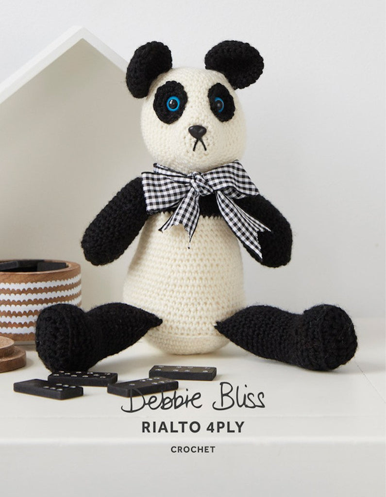 "Debbie Bliss ""Patsy The Panda"" Rialto 4-Ply Toy Crochet Pattern Leaflet (#112)"