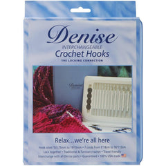Denise Interchangeable Afghan/Tunisian Crochet Hook Set - Blue  | KNITTING CO. - 1
