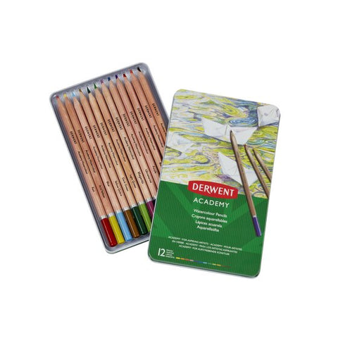 "Derwent ""Academy"" Watercolour Pencil Set - Choose Your Size"