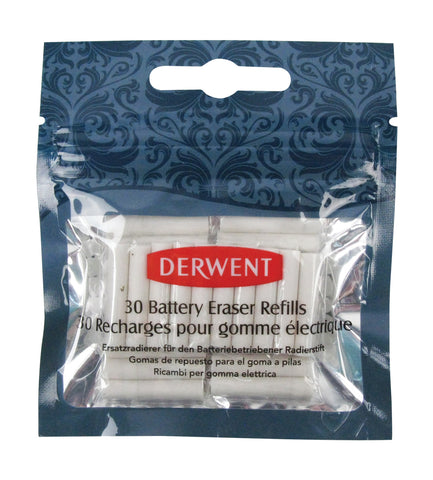 Derwent Electric Battery Eraser Refills - 30 Pack