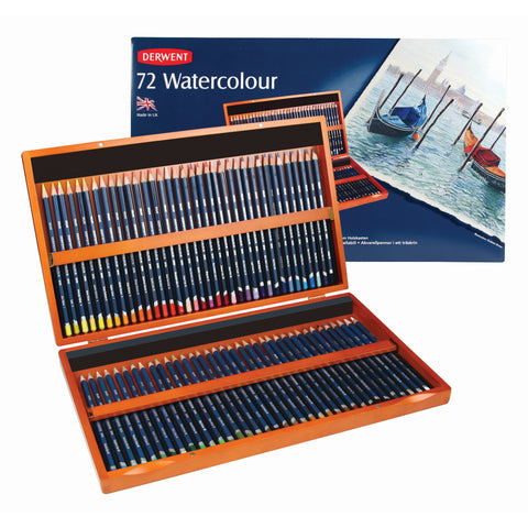 "Derwent ""Watercolour"" Colour Pencils - 72 Pencil Box Set"