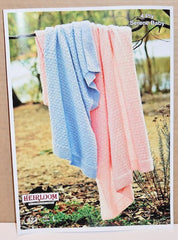 Child's 4-Ply Blanket Knitting Pattern Leaflet - Heirloom (#423)  | KNITTING CO. - 1