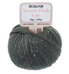 "Heirloom 50g ""Merino Fleck"" 8-Ply 100% Wool Yarn"