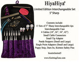 HiyaHiya Sharp Stainless Steel IC Circular Knitting Needles - Limited Edition Set of 13