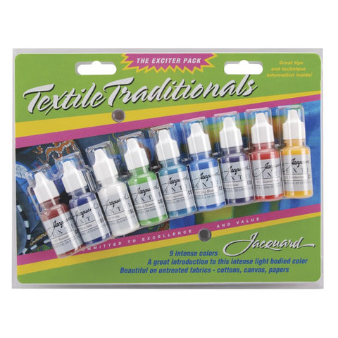 Jacquard Textile Traditions Craft Paint - Exciter Pack of 9