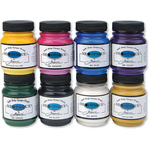 Jacquard Neopaque 70ml Acrylic Paint Jar - Pack of 8 Colours