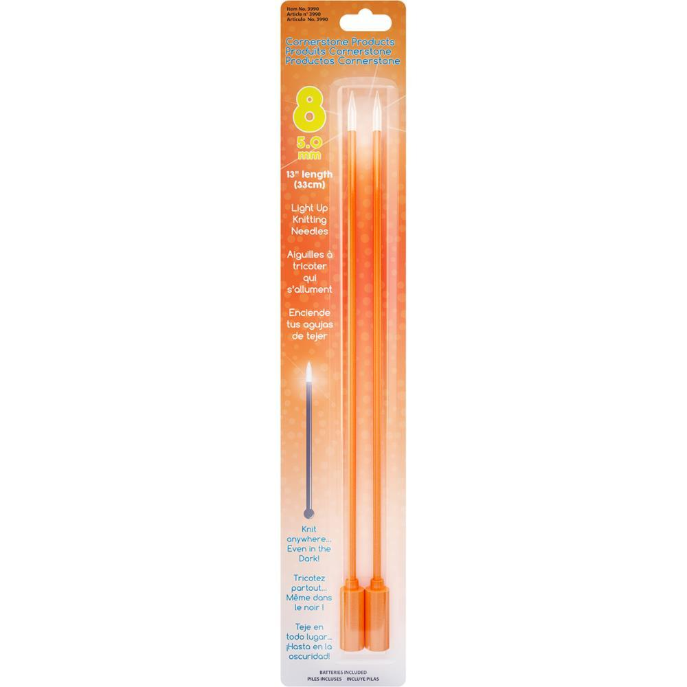 Knit Lite Light Up 35cm Single Point Knitting Needles (Dif. Sizes)