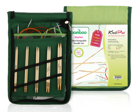 "KnitPro ""Bamboo"" Interchangeable Circular Knitting Needles - Starter Set"