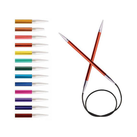 "KnitPro Zing Fixed Circular Knitting Needles - 80cm (32"")"