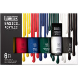 Liquitex Basics Acrylic Paint 6 x 118ml Colour Set