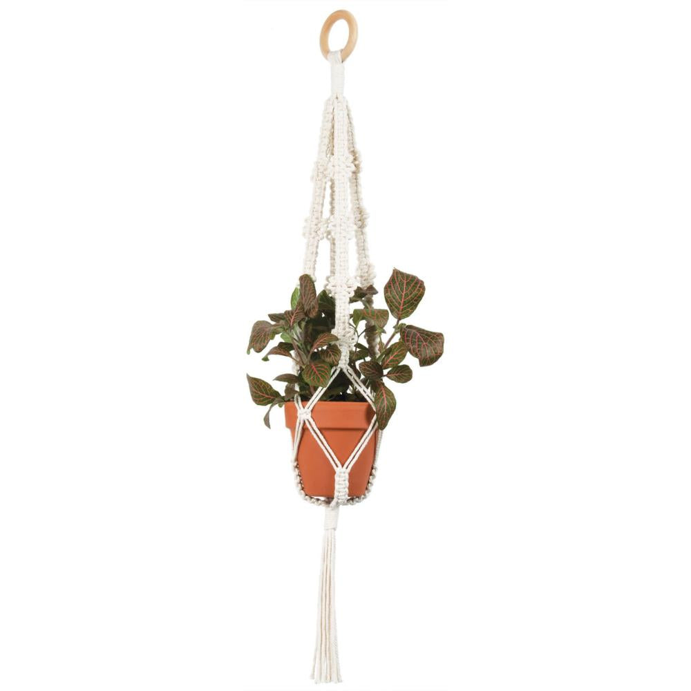 Solid Oak Make-ramè Macrame Plant Hanger DIY Kit - Picots