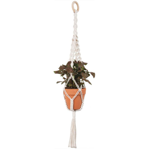 Solid Oak Make-ramè Macrame Plant Hanger DIY Kit - Twists